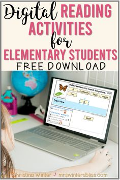 Digital Reading Activities for Elementary Students - Mrs. Reading Comprehension Strategies, Reading Fluency, Reading Passages, Teaching Reading, Decoding Strategies, Learning, Reading Response, Student Reading, Teaching Spanish