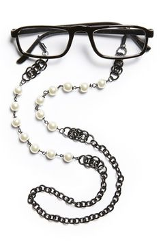 Women's Spring Street Pearly Bead Eyeglass Chain -