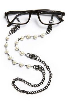 Women's Spring Street Pearly Bead Eyeglass Chain -