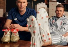 adidas Celebrates 25 Years of the Predator w/ Beckham World Soccer Shop, Football Fashion, Soccer Boots, Adidas Football, Zinedine Zidane, Predator, Beckham, Two By Two, Celebrities