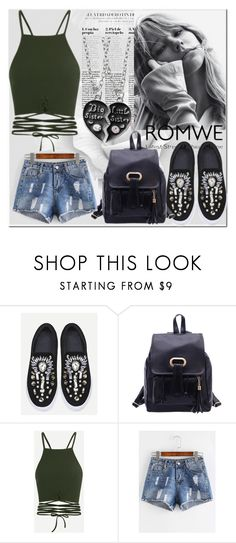 """2.romwe"" by fatimka-becirovic ❤ liked on Polyvore"