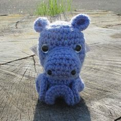 Hippo Inkie Purple Hippo Inkie The hippo is  recognized by the shape of its nose and the tiny ears. The nose I designed for the hippo Inkie is big and hangs low. The little ears make this Inkie instan