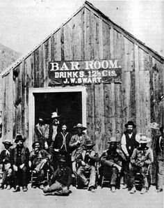 In the American Old West, a saloon was equivalent to a café or hotel.
