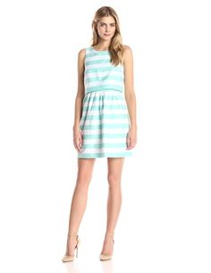ac2391621e30 Kensie Women's Block Stripe Dress Price: $119.00 Women's Clothes, Clothes  For Women, Stripe
