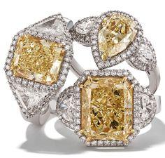 Rosendorff Golden Collection Fancy Yellow Diamond Rings