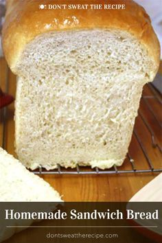 Homemade Sandwich Bread – This recipe has never failed me. Fluffy, soft, tender … Homemade Sandwich Bread – This recipe has never failed me. Fluffy, soft, tender and lasts for 5 days. Perfect for sandwiches or toast. via Don't Sweat The Recipe – No Fail Bread Recipe, Fluffy Bread Recipe, Easy White Bread Recipe, Homemade Sandwich Bread, Sandwich Bread Recipes, Easy Bread Recipes, Biscuit Recipe, Baking Recipes, Pan Sandwich