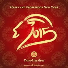 Happy Lunar New Year, Feb. 19, 2015! This is the year of the Sheep or Ram or Goat!