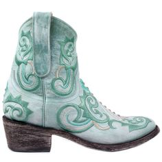 MEXICANA BOOTS   L714 AZAZ NAP  Leather - Turquoise