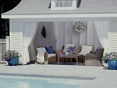Relax by the pool this summer in your very own cabana! #PoolParty