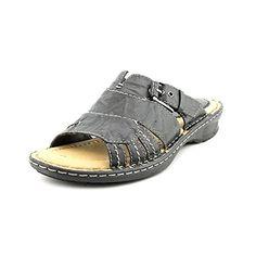 79727f77209 Earth Womens Slide Sandals Size 8 M 600492WLEA01 Willow Black Leather   gt  gt  gt