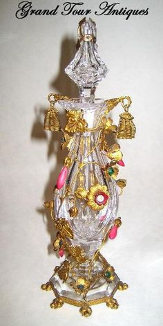 RARE French 19th Century BACCARAT scent bottle