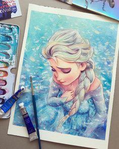 Ideas For Amazing Art Painting Disney Princess Disney Princess Drawings, Disney Drawings, Cartoon Drawings, Cute Drawings, Disney Kunst, Arte Disney, Disney Pixar, Disney Paintings, Disney Artwork