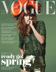 Burberry Prorsum on the cover of Vogue Korea