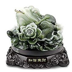 Feng Shui Money Frog (Three Legged Wealth Frog or Money Toad) Statue + Free Set of 10 Lucky Charm Ancient Coins on Red String, Attract Wealth and Good Luck ,Feng Shui x Feng Shui Frog, Feng Shui Green, Feng Shui Money Frog, Frog Or Toad, Feng Shui Symbols, Feng Shui Wealth, Congratulations Gift, H & M Home, Good Fortune