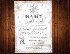 Winter Wonderland Baby Shower Invitation Oh By SevenStoryMountain, $12.00 |  Maxwell Kyle Gonzales | Pinterest | Shower Invitations, Winter And Babies