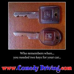 Who remembers when… you needed two keys for your car… #comedy #onlinedefensivedriving #defensivedriving  #defensivedrivingtexas  #safedriving  #safedrivingtexas  #trafficschool  #trafficschooltexas #followme  #keys #carkeys  http://www.comedydriving.com/