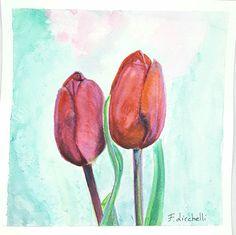 Ehi, ho trovato questa fantastica inserzione di Etsy su https://www.etsy.com/it/listing/498056569/tulipani-rossiacquerellodipinto