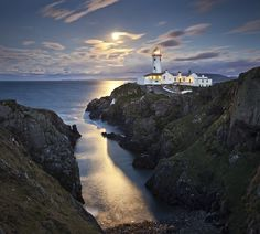 Fanad Head lighthouse on the North Donegal Coast in Ireland