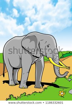 Elephant Mammals Animal Illustration with smooth graphics and full coloring. So that the illustration of this Elephant animals will be interesting when used as an image of supporting material, or to be seen. Mammals, Royalty Free Stock Photos, Coloring, Elephant, Smooth, Africa, Graphics, Animal, Illustration