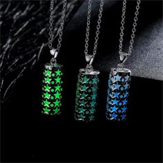 Fashion Silver Plated Chain Necklaces Jewelry For Women Geometric Glowing In Dark Night Statement Necklace Wholesale 2017 #Affiliate