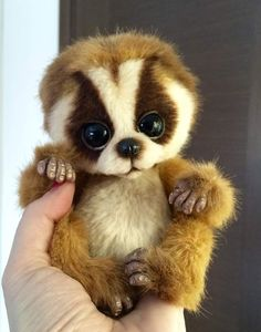 "Baby Lemur Loris by Ljudmila Donodina 5"" | eBay"
