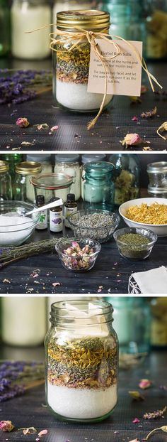Making Bath Salts with Herbs and Essential Oils | Handmade Christmas Gifts for Teachers | End of Year Teacher Gifts from Students
