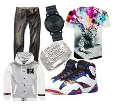 """""""wild life men's eear"""" by s-t-a-pink on Polyvore featuring MANGO, Jordan Brand, DGK, Movado, men's fashion and menswear"""
