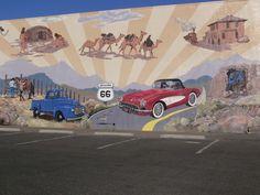 Art mural on Route 66, Kingman, AZ