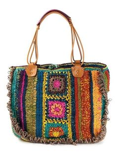 Compre Jamin Puech Cabas Alcan tote em from the worlds best independent bout Crochet Tote, Crochet Handbags, Crochet Purses, Love Crochet, Knit Crochet, Boho Bags, Shopper, Knitted Bags, Crochet Accessories