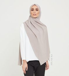Premium Hijabs - Mink Linen Blend Hijab Available online www.inayah.co