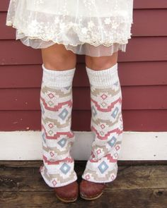 Upcycled Clothing Patterns | Southwestern Pattern Print Upcycled Recycled Sweater Flare Leg Warmers ...