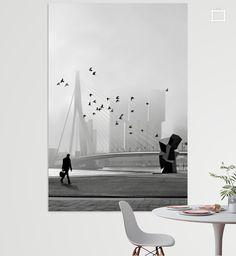 Verkocht op Werk aan de Muur: Misty Morning - Erasmusbrug in mist