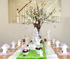 Country Garden Easter Table by Torie Jaye, 10 Easter Table Ideas via A Blissful Nest