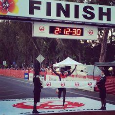 Wilson Kipsang crosses the finish line! Finish Line, Crosses, Marathon, Broadway Shows, It Is Finished, Running, Mom, Football Pitch, Marathons