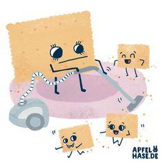 Staubsaugen! #365doodlesmitjohanna Hoovering, illustration, draw, drawing, keks, cookies, family, mother, hoover, vacuum, vacuum cleaner Apfelhase.de