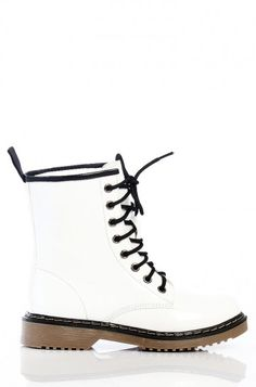 LoveMelrose.com From Harry & Molly | WHITE COMBAT BOOTS