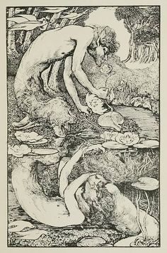 Another one to add to the stock of fauns, satyrs and Pan figures that proliferate from the to the Laurence Housman's The Reflected Faun appeared in The Yellow Book in Art Nouveau, Pagan Witchcraft, Black And White Illustration, Green Man, Children's Book Illustration, Erotic Art, Dark Art, Mythology, Fantasy Art