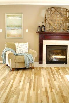 Our brand new DIY hardwood hickory floor