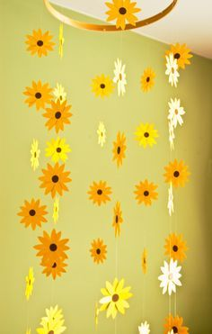 Nursery Decor Sunflower Mobile  Paper Mobile by emaliasfancy, $35.00