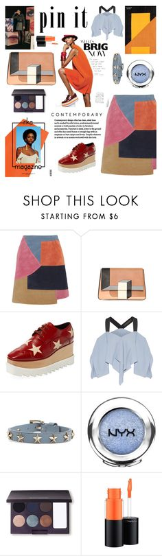 """Moderne et graphique"" by shangalairina ❤ liked on Polyvore featuring M.i.h Jeans, Fendi, Rika, Le Kilt, STELLA McCARTNEY, Roland Mouret, RED Valentino, NYX, Laura Mercier and MAC Cosmetics"