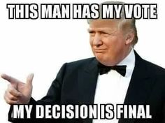 And Russia has absolutely nothing to do with my vote!!
