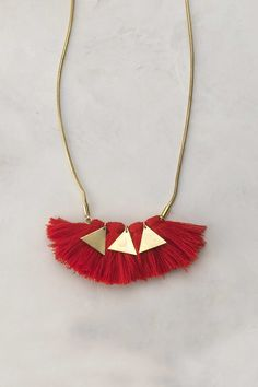 Inspiration: swept treasures pendant €114.00 (brass & cotton) made of tassels