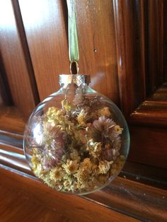 Dried Goldenrod Milkweed and Daisy Ornament by TheFancyMoose