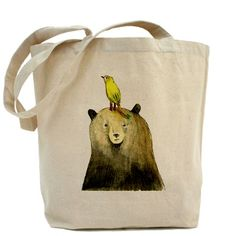 Tote bag: with Cristine's bear & bear print on it