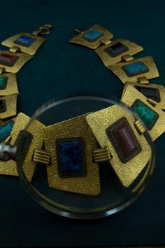 Costume jewellery vintage metal belt with di Daedaleum su Etsy