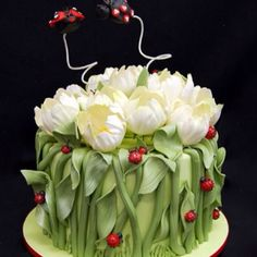 Tulip cake, Love It!!! Peg, you need to get back to doing cakes! I want this one for my next Bday.