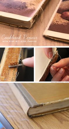 Breathing new life into a favorite old book by repairing it - Cookbook repair by Ruth Bleakley with photos