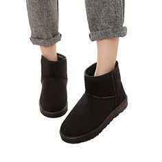 womens fashion cutton sneakers slip on belt flat low Long fluff warm snow boots >>> Check this awesome product by going to the link at the image.