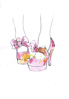 Fashion watercolours   Yeena Kirkbright