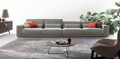 * Диван со спинкой разной высоты Buble фабрики Ditre * Sofa Buble with different-heigth back from factory Ditre